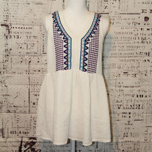 Paper Crane embroidery embroidered tank boho Med